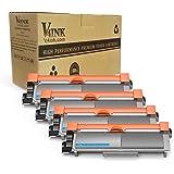 V4INK 4-Pack New Compatible Brother TN630 TN660 Toner Cartridge Black for Brother HL-L2340DW HL-L2300D HL-L2380DW MFC-L2700DW L2740DW DCP-L2540DW L2520DW HL-L2320D MFC-L2720DW L2740DW Printer