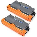 JARBO TN2220 TN-2220 Toner Cartridges Compatible for Brother HL-2130 HL-2132 HL-2240 HL-2240D HL-2250DN HL-2270DW DCP-7060D DCP-7065DN DCP-7070DW MFC-7360N MFC-7460DN MFC-7460N MFC-77860DW FAX-2840 FAX-2845 FAX-2940, Pack of 2 Black