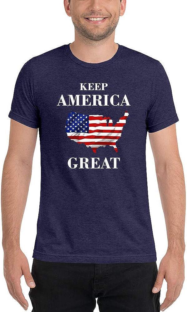Dark Colors Keep America Great KAG Tri-Blend Tee