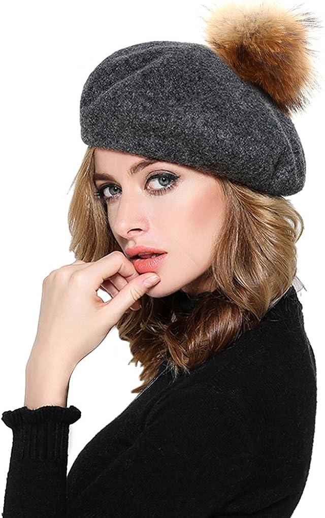 Women Girs Wool Beret...