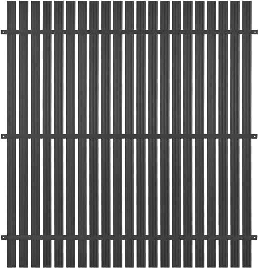 vidaXL Panel de Valla Aluminio 180x180 cm Gris Antracita Jardín Patio Terraza: Amazon.es: Hogar