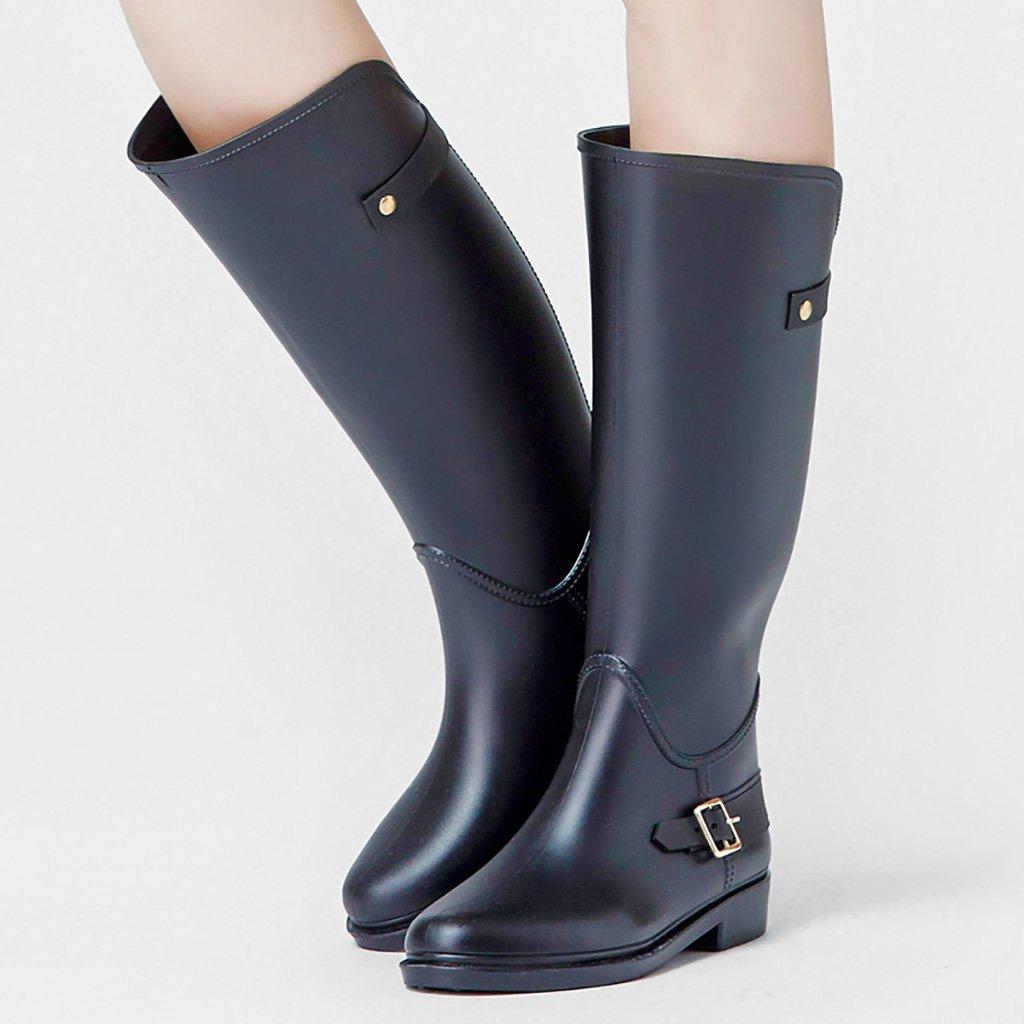Frau Wellington Regenstiefel Gummiregenstiefel Gummiregenstiefel Regenstiefel Anti-Rutsch-Regenstiefel Schwarz 2b430e