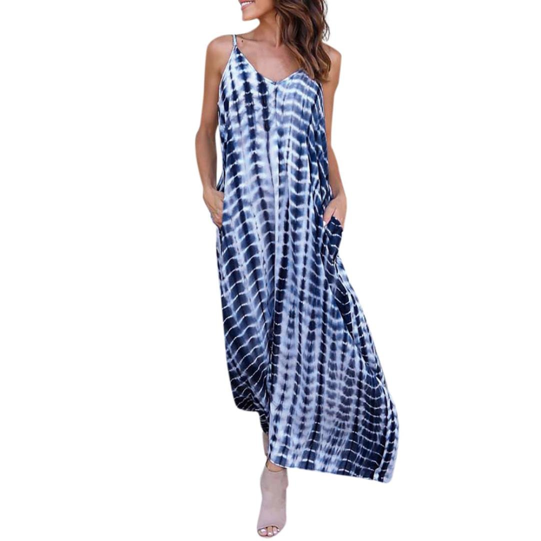 1fd7f2b048e8b 【FEATURES】Casual style, elegant, polyester, gradient color, loose,  straight, sleeveless, v-neck, long for ankle, beach dress ???? 【WEARING】You  can pair ...