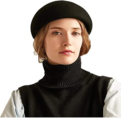 BERET FRENCH MEN  BLACK HAT FLAT CAP UNISEX FANCY DRESS PARTY COSTUME ONE SIZE