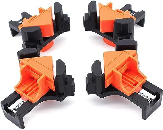 Yuhtech 4 unidades abrazadera de /ángulo de madera y metal Abrazaderas de esquina 90 grados de /ángulo derecho pinzas para el procesamiento de madera