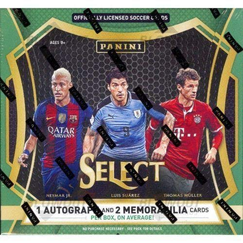 2016 17 Panini Select Soccer Hobby 12 Box CASE -1 Auto/2 Mems/Box Pulisic RC - Panini Certified - Unsigned Soccer Cards from Sports Memorabilia