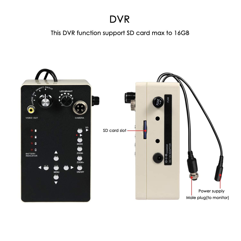 C/ámara de Inspecci/ón de Tuber/ías 30 Metro con Grabadora DVR Inspecci/ón de Video para Drenaje de Alcantarillado Endoscopio de Tubo Industrial IP68 Impermeable C/ámara de Plomer/ía con 7 1080P HD LCD