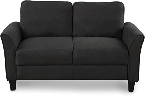 Living Room Furniture Love Seat Sofa Double Seat Sofa Loveseat Chair Black
