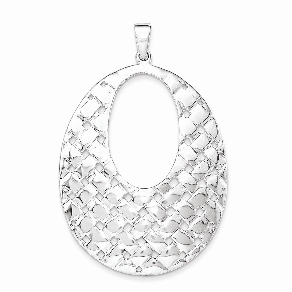 Sterling Silver Jewelry Pendants /& Charms Weave Design Pendant