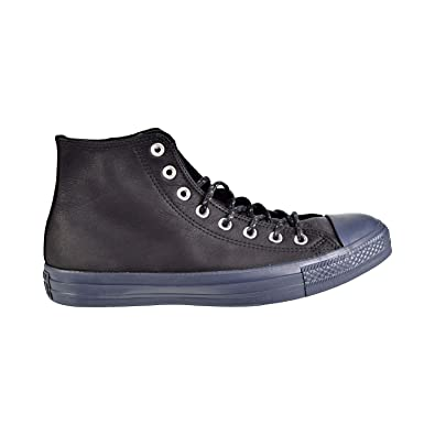 ce6d3441a9505 Converse Womens Chuck Taylor All Star Hi Black Sharkskin Leather Trainers  36.5 EU