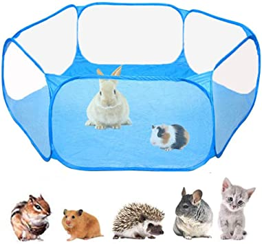 Vicsport Small Animals Cage Tent Breathable Pet Playpen Open Outdoor Indoor Pets Exercise Fence Portable Yard Fence For Guinea Pig Rabbits Hamster Chinchillas And Hedgehogs Amazon Co Uk Pet Supplies