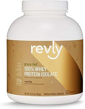 Amazon Brand Revly 4.03lb 100% Grass-Fed Whey Protein Isolate (Vanilla)