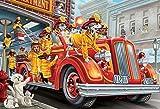 Fire Truck Pups Kid's Jigsaw Puzzle 100 Piece