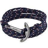 Amazon Price History for:Adjustable Nautical Anchor Wrap Cuff Bracelets Twining Weave Nylon Rope Punk DIY Sailing