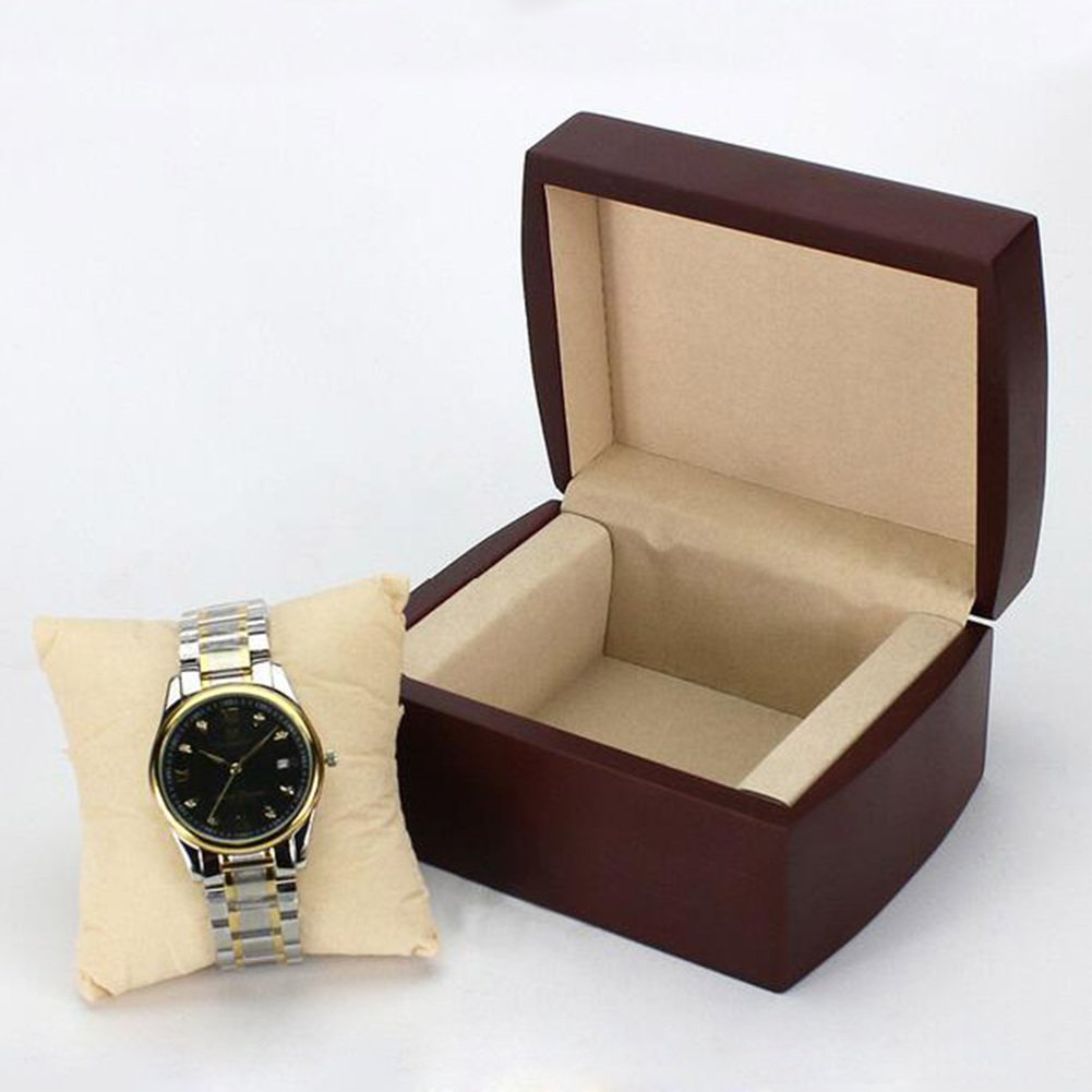 AVESON Luxury Watch Box Holder Organizer, Premium Wooden Jewelry Bracelet Storage Gift Case Single Grid by AVESON (Image #6)