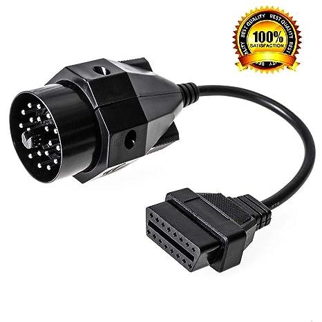 Auto e moto: ricambi e accessori Cavi AUX e di interfaccia 20 Pin a 16 Pin Cavo Adattatore Scanner OBD2 Connettore Per E36 E38 E46 E53