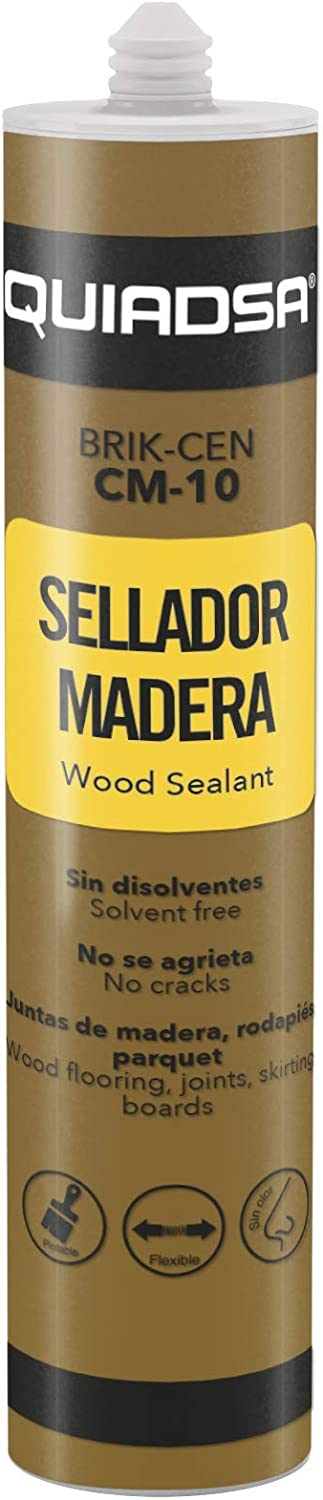 Quiadsa 52502325 Sellador Elástico para Madera, 300 ml: Amazon.es ...