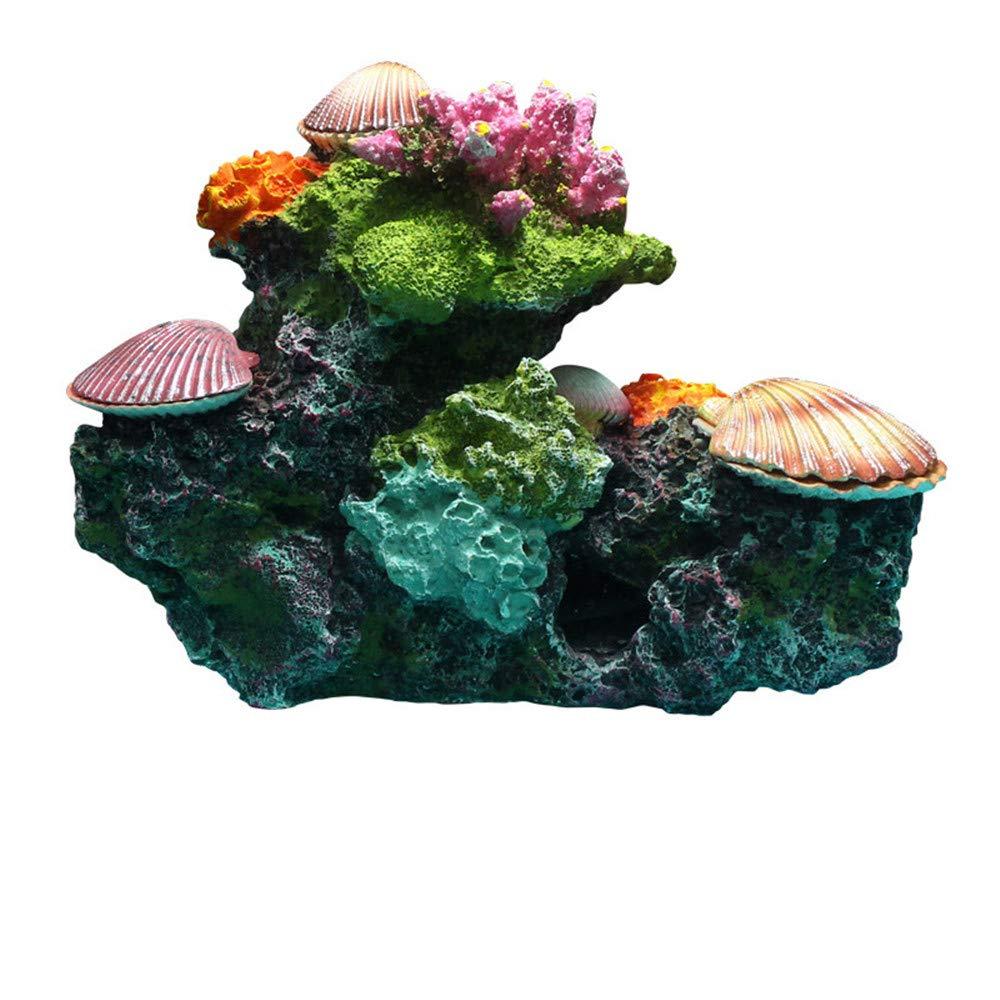 Danmu 1Pc of Polyresin Coral Reef Ornament for Fish Tank Aquarium Decoration 8.66'' x 3.93'' x 6.69'' by Danmu
