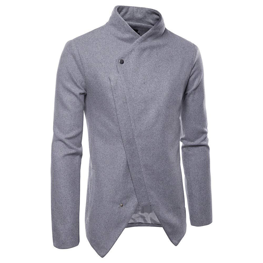Sumen Men Clothing Clearance! Autumn Winter Shawl Collar Casual Long Sleeve Solid Jacket Coat