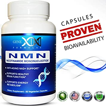 NMN 250mg Serving Nicotinamide Mononucleotide Direct NAD+ Supplement (2X  125mg Capsules 60ct)