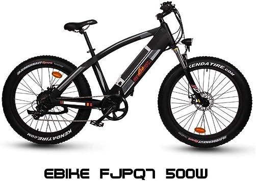 FUJISOL Bicicleta de montaña eléctrica BTT eBike FJPQ7 500w ...