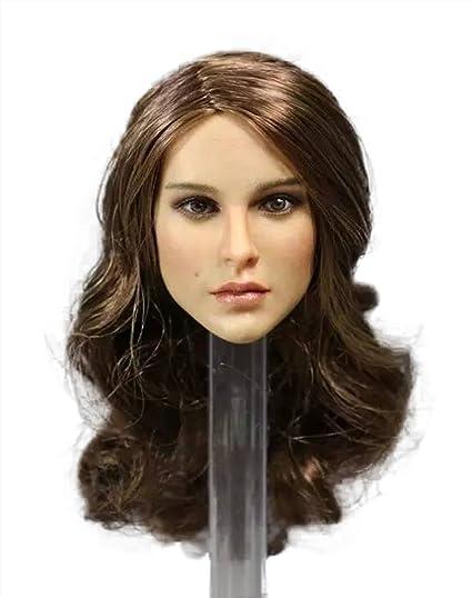 "1//6 Female Women Brown Long Hair Girl Head Sculpt Fit 12/"" Phicen Body Figure Toy"