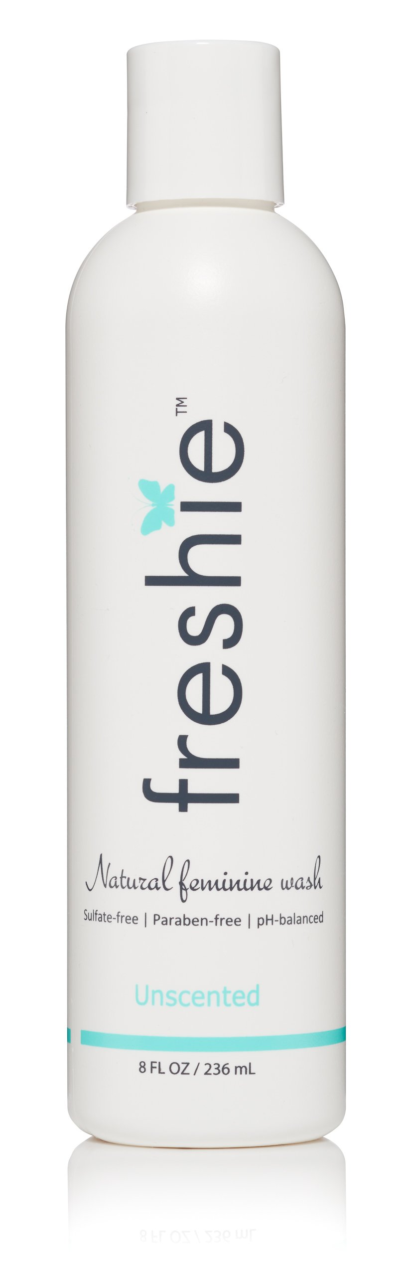 freshie Natural Feminine Care pH-Balanced Feminine Wash with Odor-Blocking, Plant Derived Ingredients for External Vaginal Cleansing (Lightly Fresh Fragrance Free)