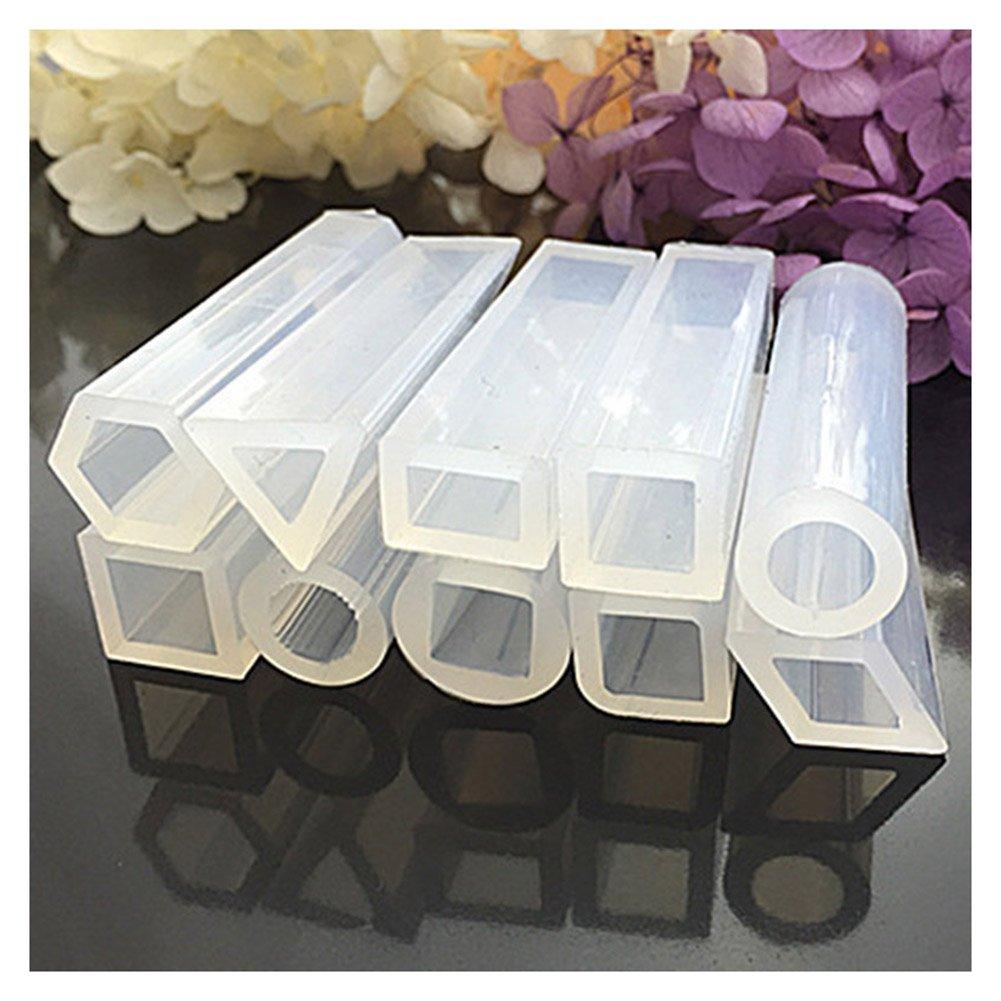Wildlead 10PCS/set CUBOIDS Silikon Form Harz Anhänger Form für selbstgemachten Schmuck Perlen