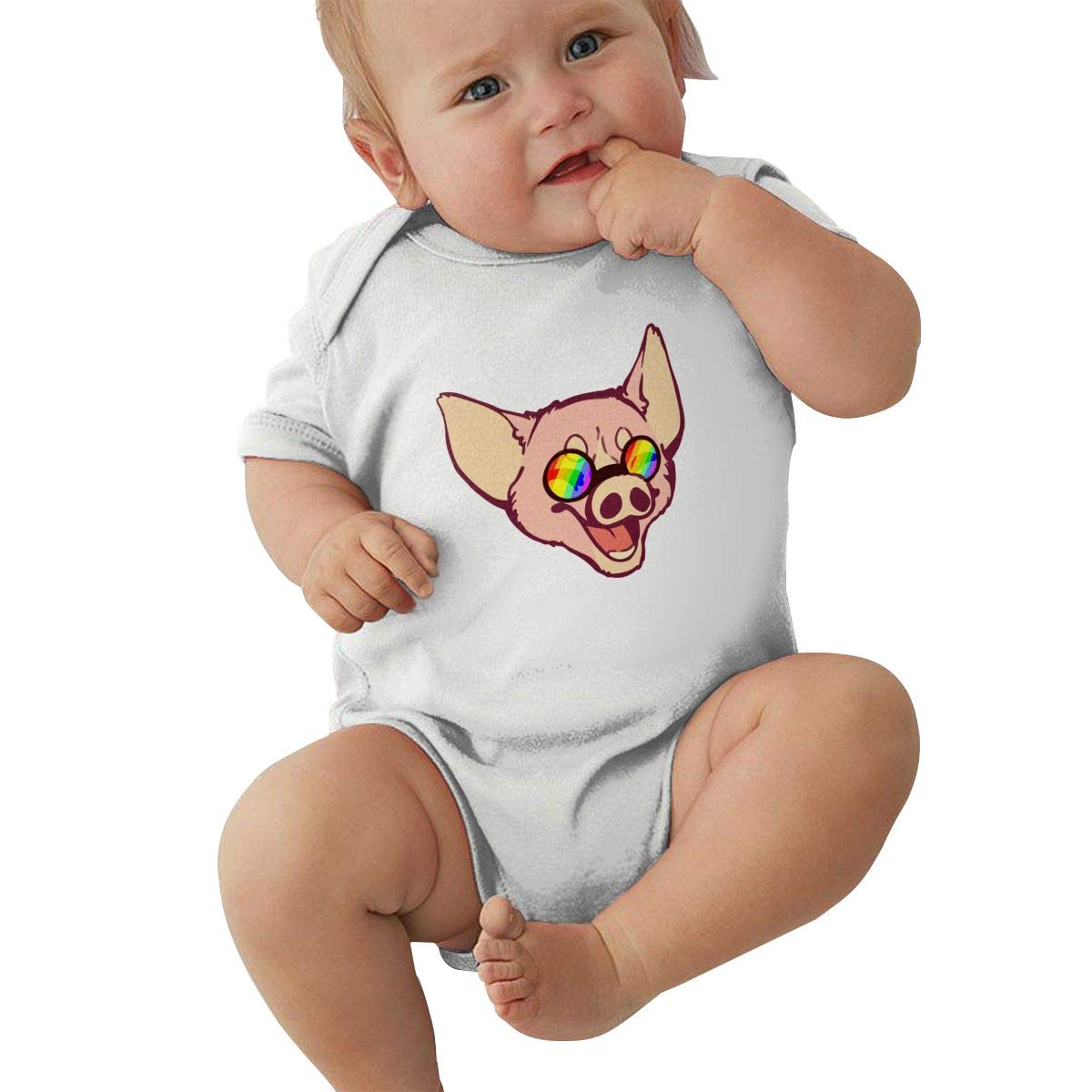 Pride Pig Baby Girls Long Sleeve Short Sleeve Coveralls Jumpsuits
