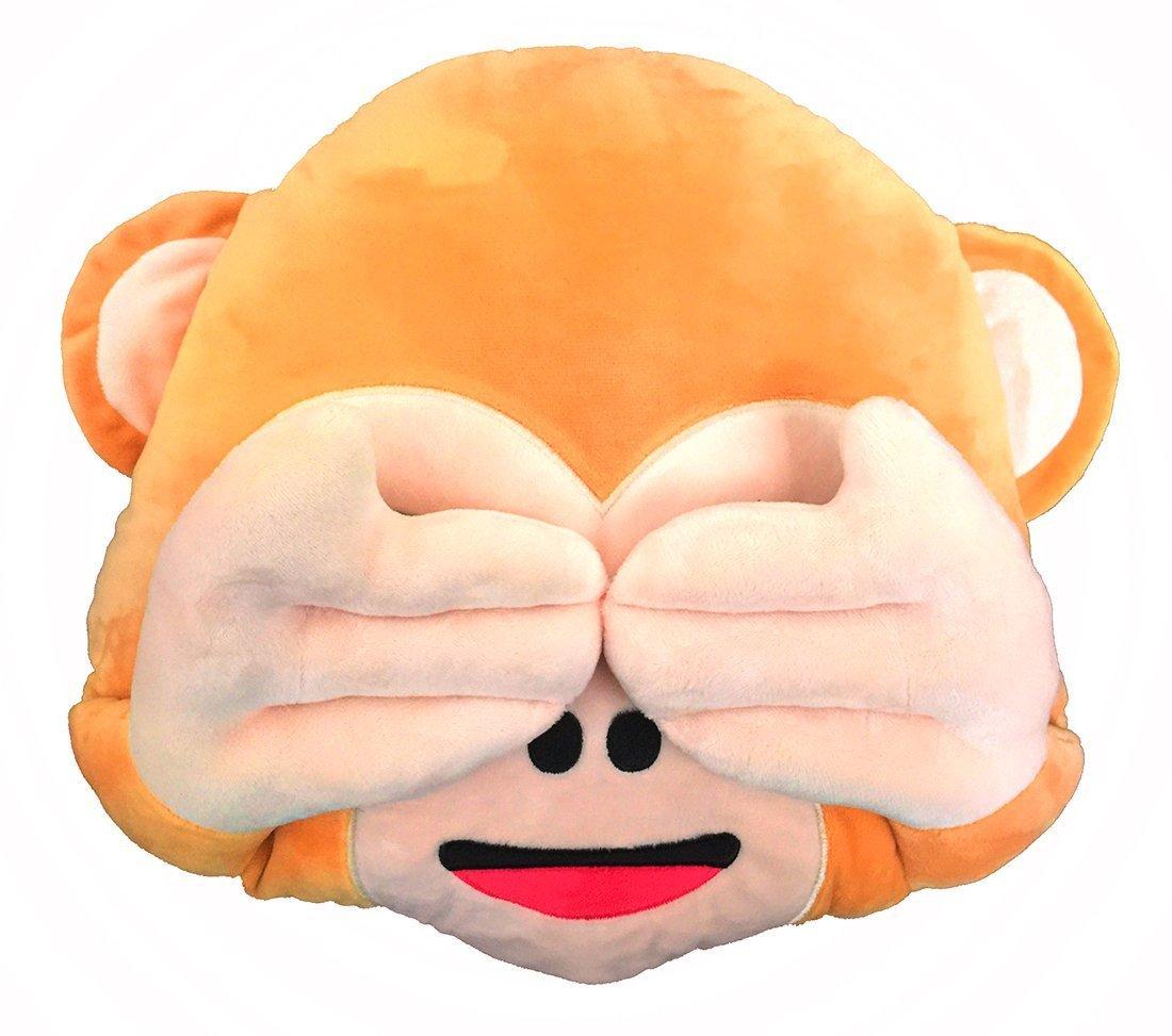 Emoji Pillow 12 Inch Emoji Cushion Monkey Plush Soft Toy Children's Gift (Monkey)