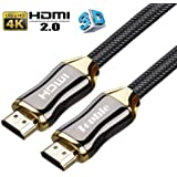 ハイスピードHDMIケーブル 切替器 4K 3D イーサネット 24 k金メッキ端子 テレビ/Xbox /PS4などに対応 2m