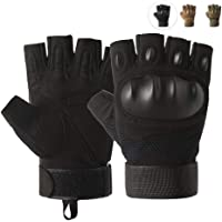 Outdoor Tactical Gloves, Breathable Half Finger Sports Gloves, Anti-Slip Cycling Gloves for Bike, Motorcycle…
