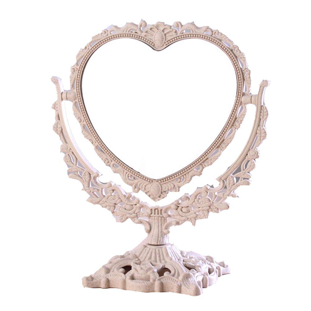 Miroir de vanité de maquillage Miroir de miroir haute définition à double face Black Temptation