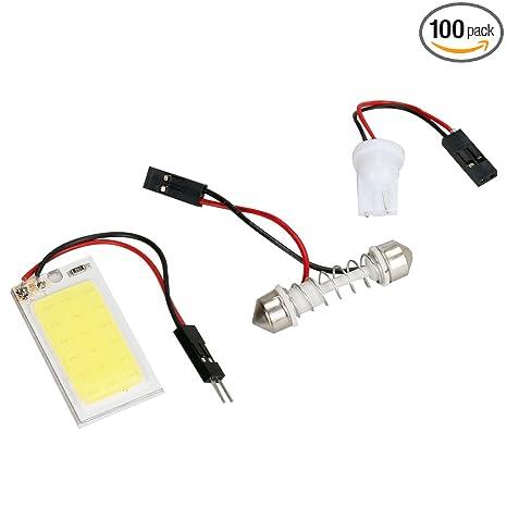 Amazon.com: LED luz del coche Interior, 2pcs LED lámpara ...