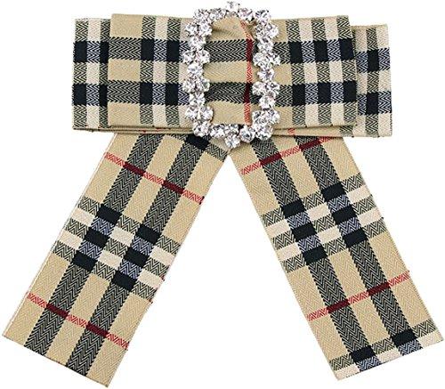 Eagle Mailbox Ornament - Ababalaya Wedding Party Ribbon Imitated Pearls Rhinestones Bow-Tie Brooch Pin Clip,13380Khaki