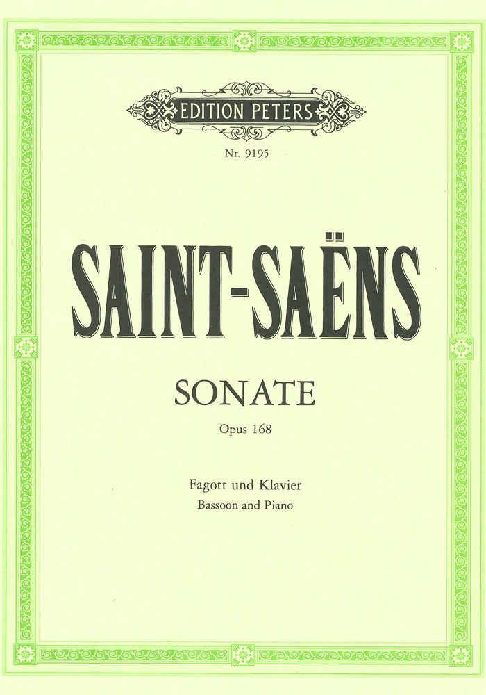 Sonate Op.168 Basson Partition – 1 janvier 2000 Camille Saint-Saens Peters B00006M2NR EP9195