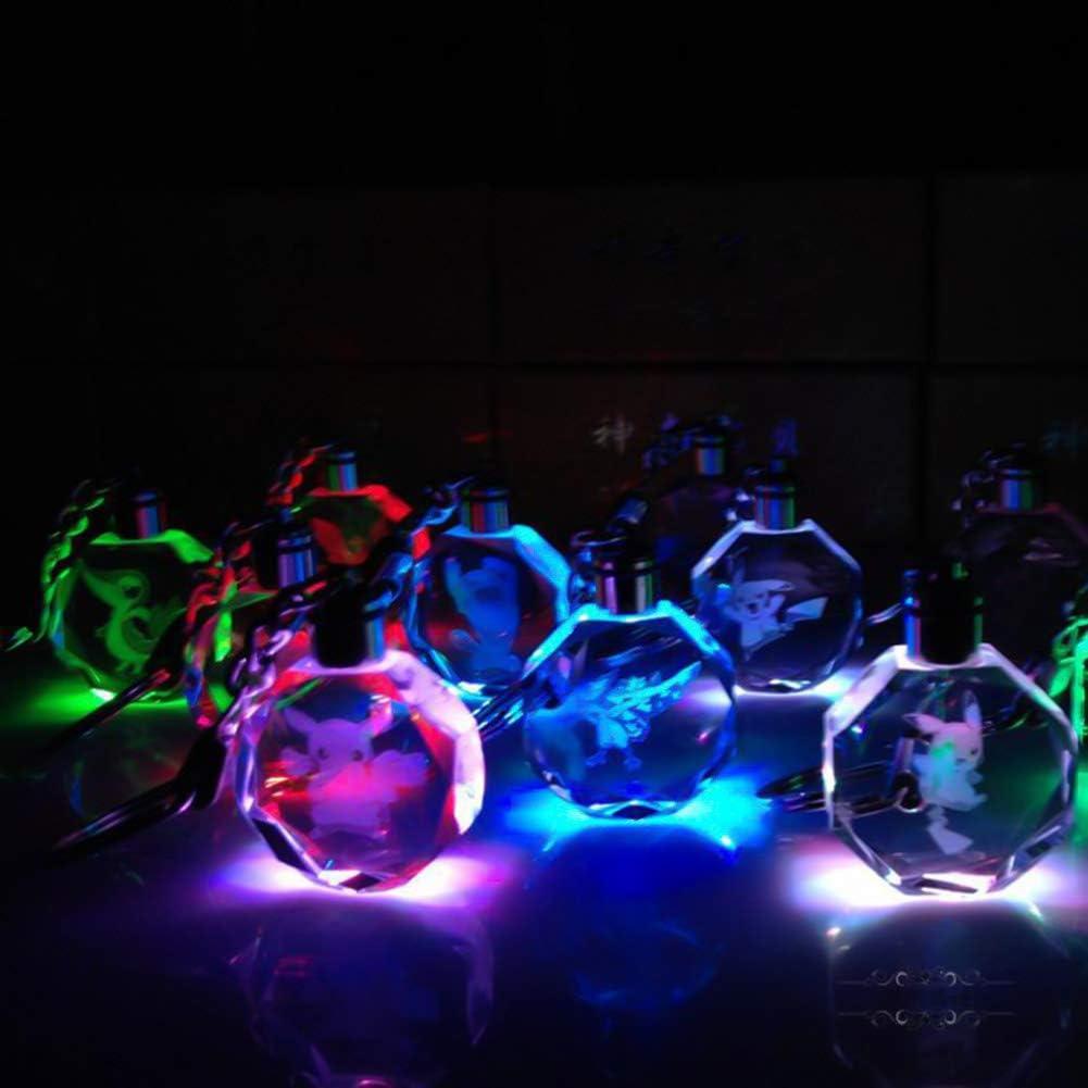 Saicowordist Anime Kuroko No Basket Pendentif lumineux LED en cristal Multicolore Caricature porte-cl/és Anime Fans Cadeaux Akashi Seijuro