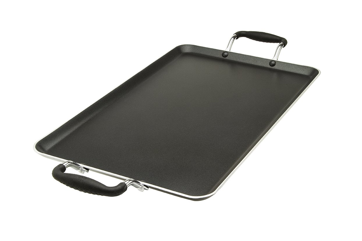 """Ecolution Artistry Griddle Nonstick Double Burner, 12"""" x 18"""" Inches"""