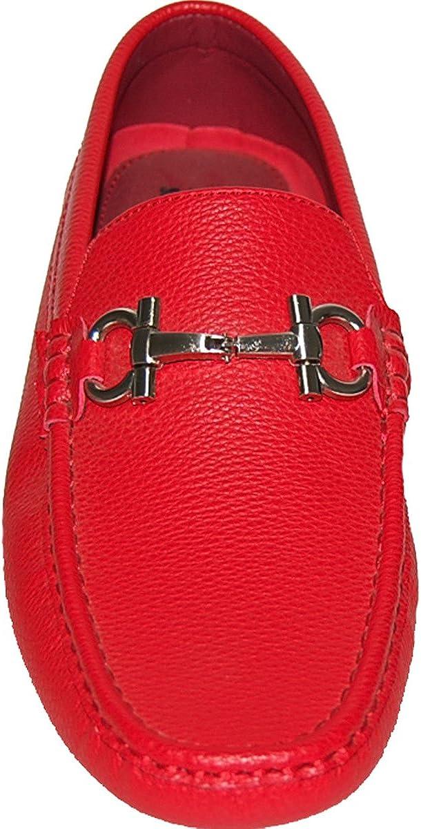 KRAZY SHOE ARTISTS Dress 4 Success Red Mens Loafer Drivers