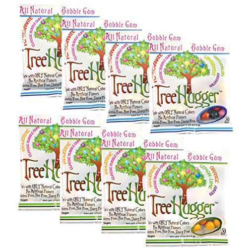 Tree Hugger All Natural Bubble Gum Bags Variety Pack Certified Kosher(Kof-K) 2 oz - Gluten Free, Nut Free, and Dairy Free - 8 pack