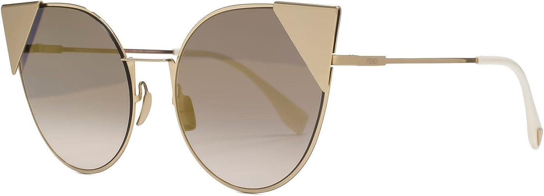 Fendi lunette cateye Lei en miroir gris rose FF 0190S 000