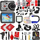 VEHO MUVI K-Series K2 Pro 4K Wi-Fi Sports Action Camera w/ 48GB 28PC Bundle - Window Mount - Helmet Mount - Opteka X-GRIP Action Handle - High Power LED Video Light and MUCH MORE