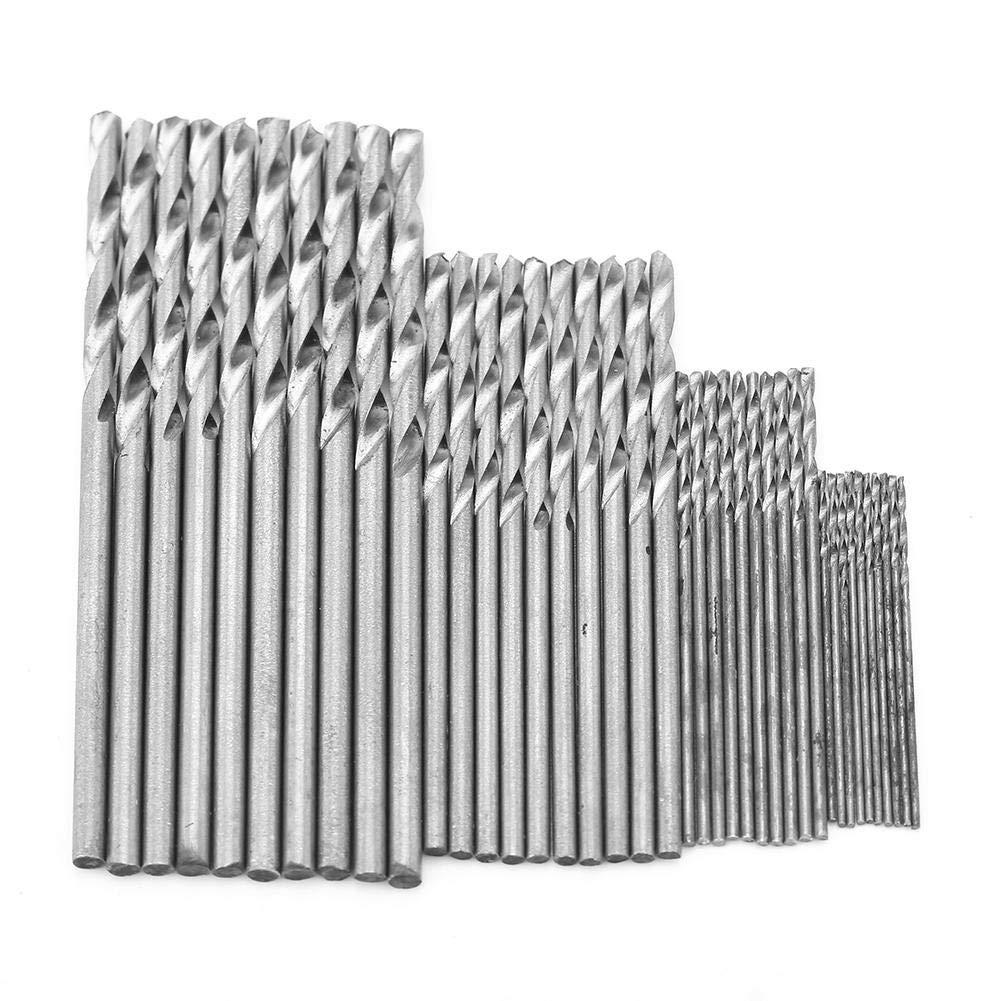 40PCS Durable High Speed Steel 0.5//0.8//1.5//2mm Twist Drill Bits Drilling Tools Drill Bit