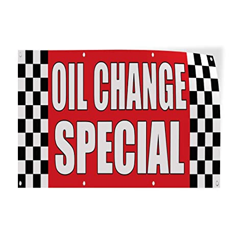 Oil Change Special >> Amazon Com Decal Sticker Oil Change Special Auto Body Shop Car
