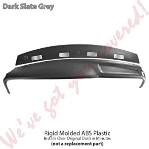 DashSkin 2 Piece Molded Dash Cover Kit Compatible with 02-05 Dodge Ram in Dark Slate Grey