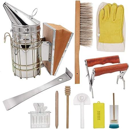 Smoker Fuel Bee Hive Smoke Supplies Kit Equipment Beekeeping Tools Supplies