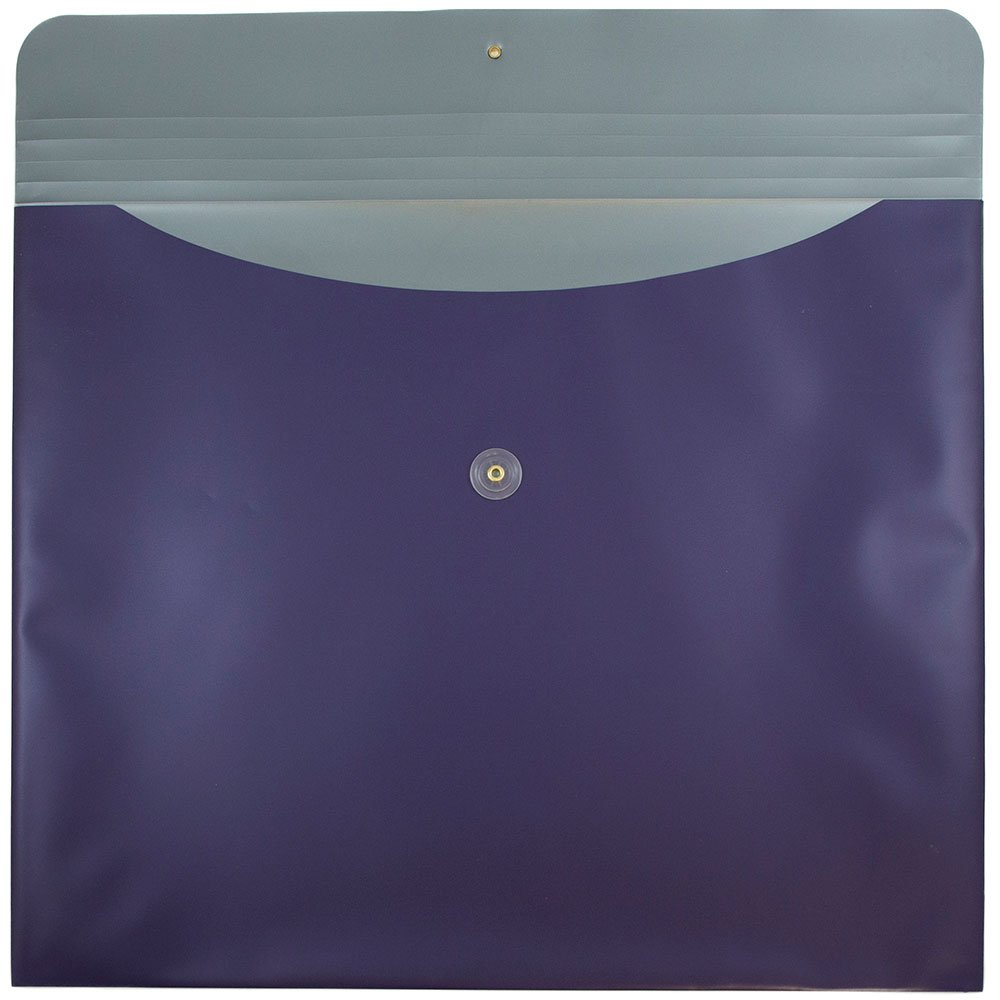 JAM PAPER Plastic Envelopes with Button & String Tie Closure - Large Booklet - 15 x 18 - Metallic Purple - 12/Pack by JAM Paper (Image #2)