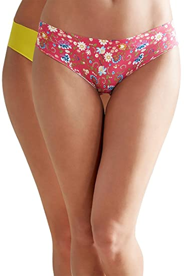 9ab37c382607 Zivame No Panty Line Laser Cut Floral Addiction N Solid Briefs (Pack of 2):  Amazon.in: Clothing & Accessories