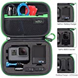 Carrying Case for GoPro Hero 6,5, 4, Black, Silver, 3+, 3 and Accessories,HSU Protective Security Bag, Storage Solution for Adventurers-UPGRADED INTERIOR FOAM