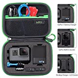 Carrying Case for GoPro Hero 6 - 5 - 4 - Black - Silver - 3+ - 3 - Hero(2018) and Accessories - HSU Protective Security Bag - Storage Solution for Adventurers-UPGRADED INTERIOR FOAM